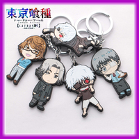 2015 Fashion Japanese Anime Cartoon Tokyo Ghouls Cute Silicon Soft PVC Keychain