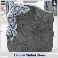 manufacture olive green granite headstone in china