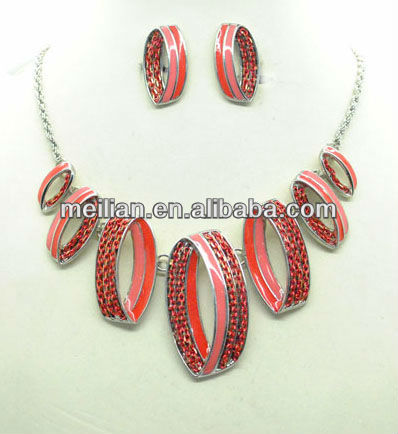 Fashion earring,necklace,jewelry sets,variety colors,chain jewelery