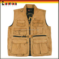 Wholesale work safety vest like leather fishing vest