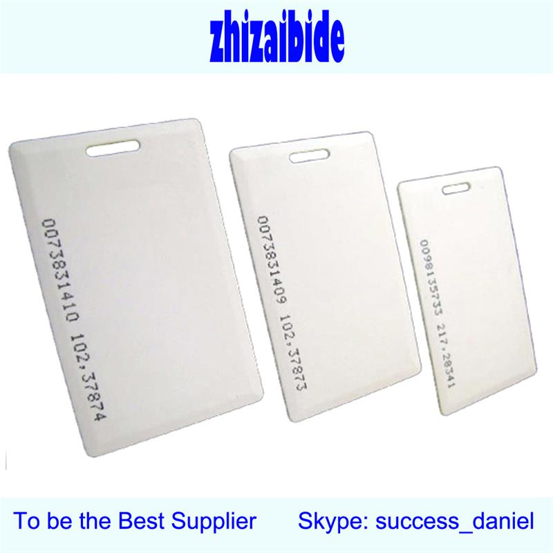 125khz id tk4100 rfid smart plastic proximity card white pvc id card chip