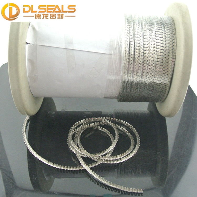 DLseals 2.8x2.8x0.12mm Stainless steel 301 Meander <strong>spring</strong> 1.4310