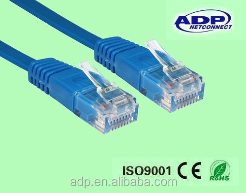 flat utp cat 5 lan cable/flat cat5 patch cord/patch leads