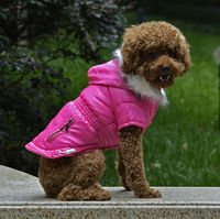 PETSOO Rose Fashion zipper design Adjustable button Winter Dog Clothing Wholesale [PTS-036D]