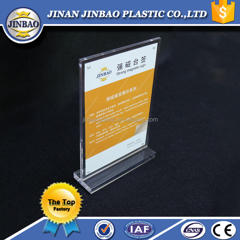 acrylic business card display with sign holder
