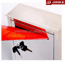 JINKE steel square customzied letterbox, combination locking mailbox for sale