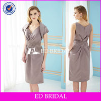 BY1171 New Arrival Stain Pleating Tea Length Mother Of The Bride Dresses