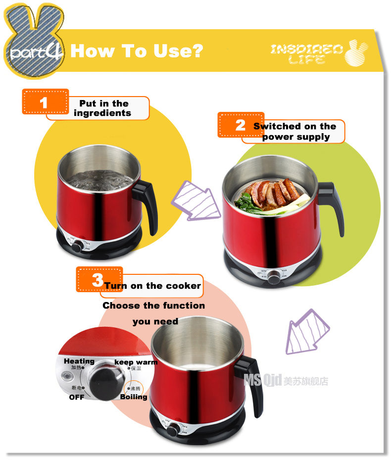 100-240V Hot selling in Taiwan professional polaris multi cooker with KC certification made in China