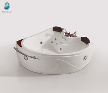Acrylic White Indoor Spa Bathtub Whirlpool Jets One Person Hot Tub Freestanding walk in bathtub, corner tub with faucet