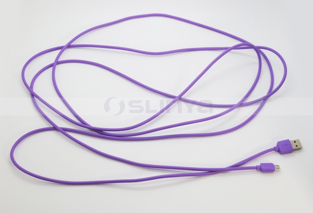 Colorful 3M/10FT 5pin V8 Cable Micro USB Cable For Android Mobile Phone