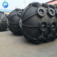 Yokohama Ship Marine Rubber Buoy Fenders With Galvanized Chain And Tire