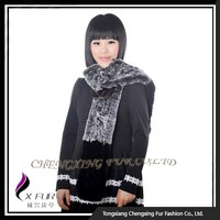 CX-S-164F Hot Selling Real Rex Rabbit Fur Neck Warmer Scarf