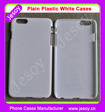 JESOY Cheap Phone Case for iPhone 5 5c 6 6s Plain Blank White Plastic Cases For UV Printing