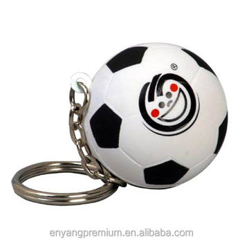 2018 New Popular High Quality Soft Beautiful Mini Pu Squeeze Soccer 40mm Keychain stress reliever toys