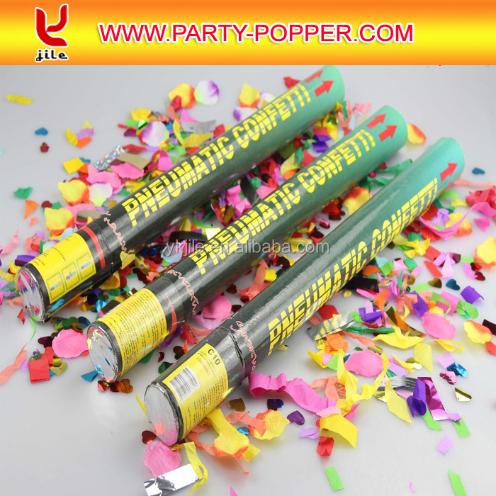 Factory Wholesale gold party poppers,party favor ,party fireworks with confetti