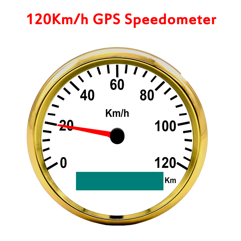 85mm GPS Speedometer 0-120Km/h Stainless Waterproof Gauge Auto Meter for All Vehicles
