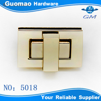 Hot-sale Hot-sale !!rectangle noble style turn locks for handbag clutch bag closure