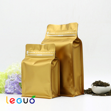 Hot sale resealable quad seal coffee bag packaging with zipper