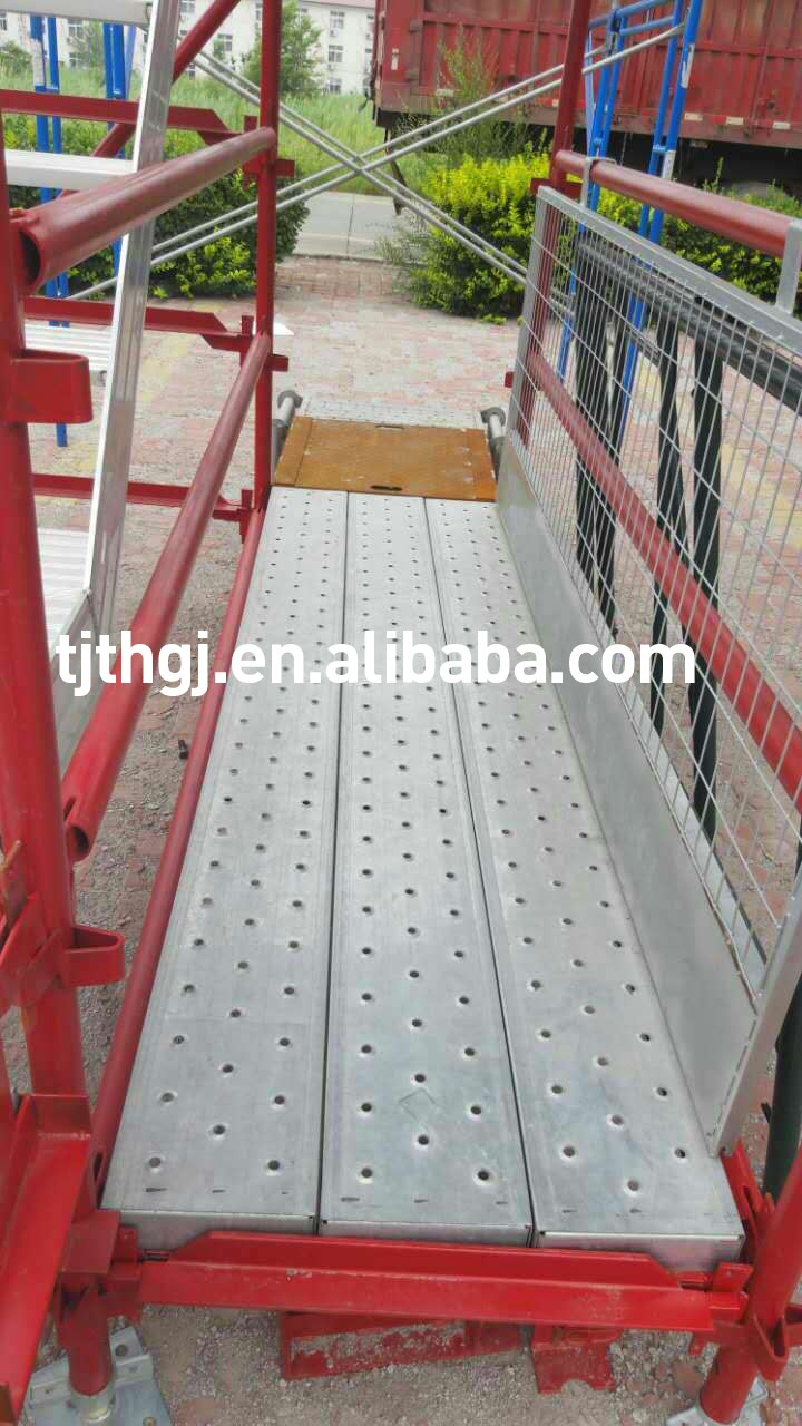 Scaffolding parts steel planks used for construction