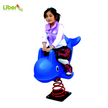 LLDPE Small Kids Animal Dolphin-shaped Horse Riding Toy / Spring Rider