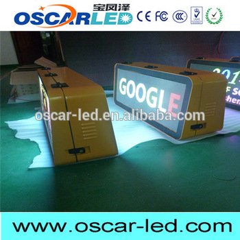 Plastic taxi top led display with great price taxi top led display