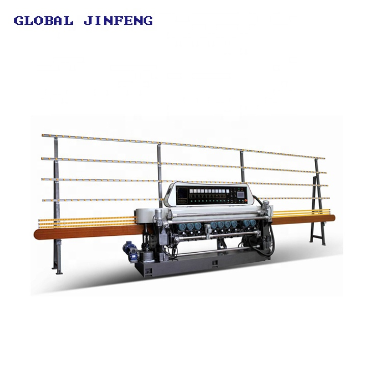 JFE-371 Hot sale 11 engines glass straight line bevel edging machine for sale