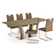 High Gloss Finish Extendable 8 / 10 / 12 Seater MDF Wooden Dining Table For Living Dining Room