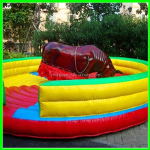 Amazing inflatable inflatable mechanical bull ring. bull riding machine for theme park