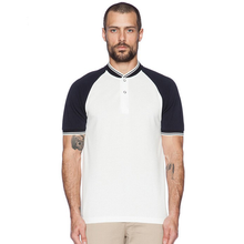 White And Black Blank Polo Shirts No Collar Raglan Sleeve Polo Shirt Fashion New Design Polo T Shirt