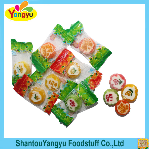 Fruity flavor fruit picture slice hard candy