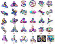 2017 New Design 2 High Quality Rainbow Shine Colorful Iron Hand Spinner Fidget Spinner Finger Spinner Metal Alloy Toys