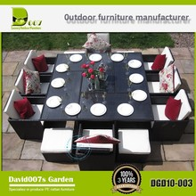 12 Seater Dining Table And Chairs DGD10-0003 Rattan Outdoor Furniture