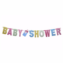 New Baby Showers Banners Feeding Bottle Party Decorations Baby Boys Girls Birthday Event Supplies Hanging Background Photo Props