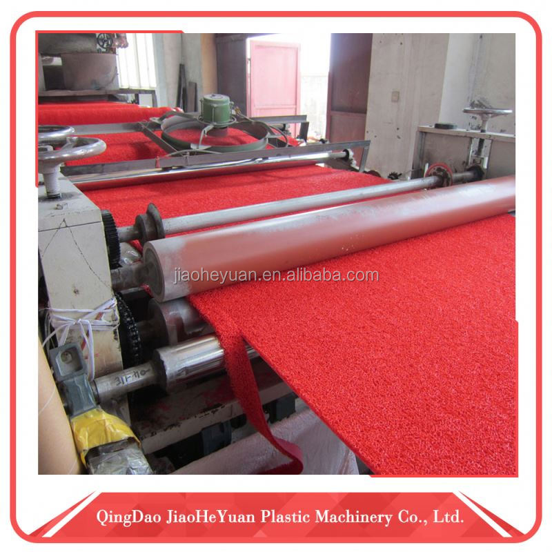 Cheap manufacturer plastic turf floor coil mat extrusion machine