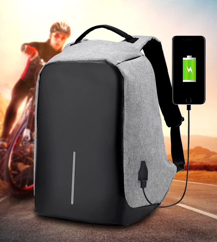 Wholesale Personalized Travelling Waterproof USB Battery Charging anti theft backpack