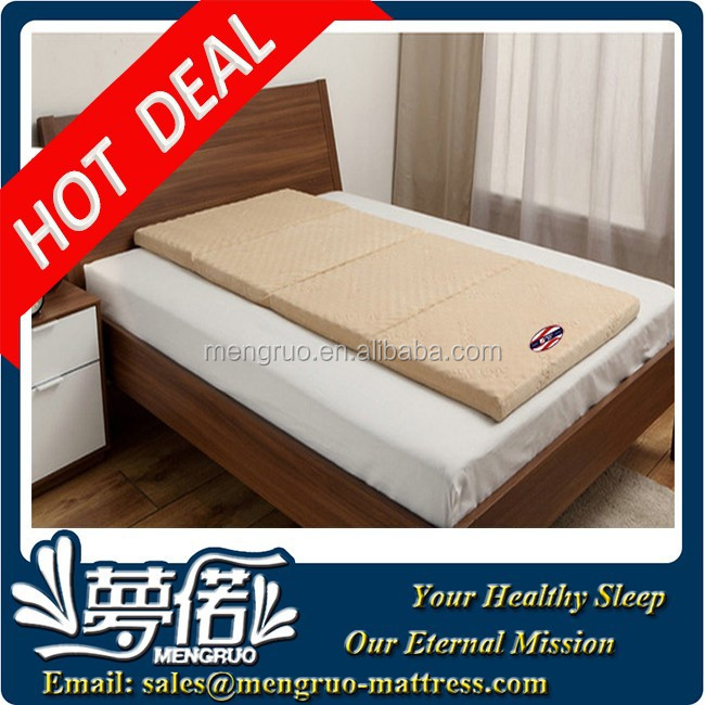 travel camping single size visco foam easy carry mattress