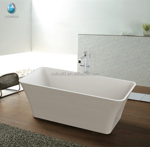 K-507 new hotel project design rectangle free Standing Acrylic Soaking bathtub, Portable soaking tin bath tub