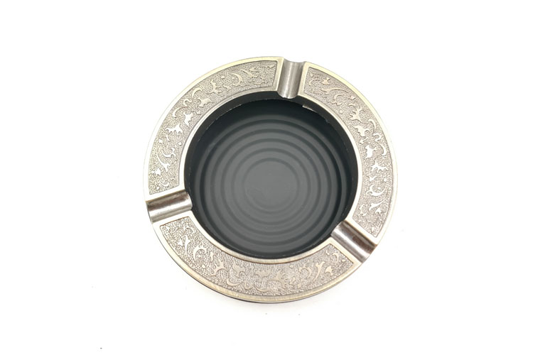 T002AM LVHE Hot Selling Popular Round Shape Wall Mounted Metal Ashtray
