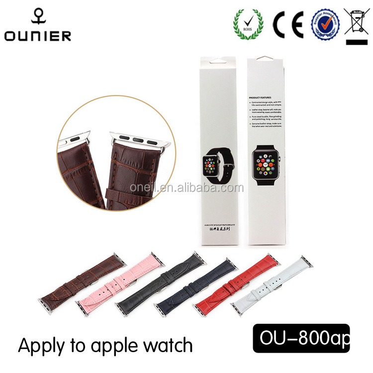 Genuine Leather Watch Strap,Genuine Leather Band for Apple Watch with Metal Clasp