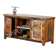Reclaimed Wood Furniture, Indian Recycled Wooden TV Cabinet
