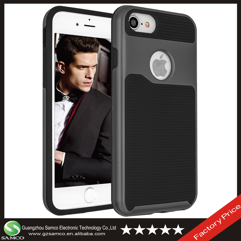 Samco Premium Shockproof Ultra Slim TPU + PC Armor Back Cover Case for iPhone 7