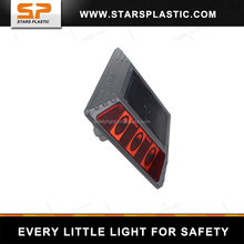 Cat-eye Reflective Road Studs with leg, solar aluminum reflector