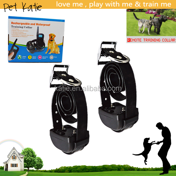 LCD Remote Control Sport Dog Shock Collar with 100 Level Shock Vibrate