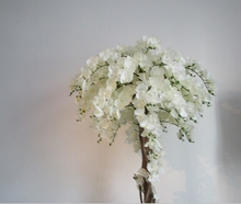 Customized white artificial orchid flower tree branches for centerpieces decoration cherry blossom branches
