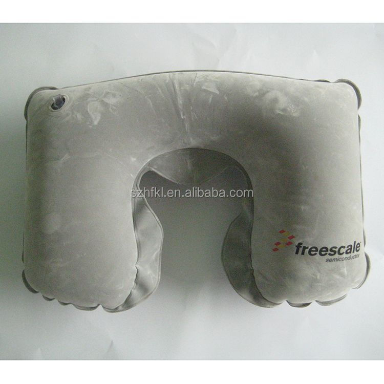 grey inflatable air bed travel pillow cushion for camping