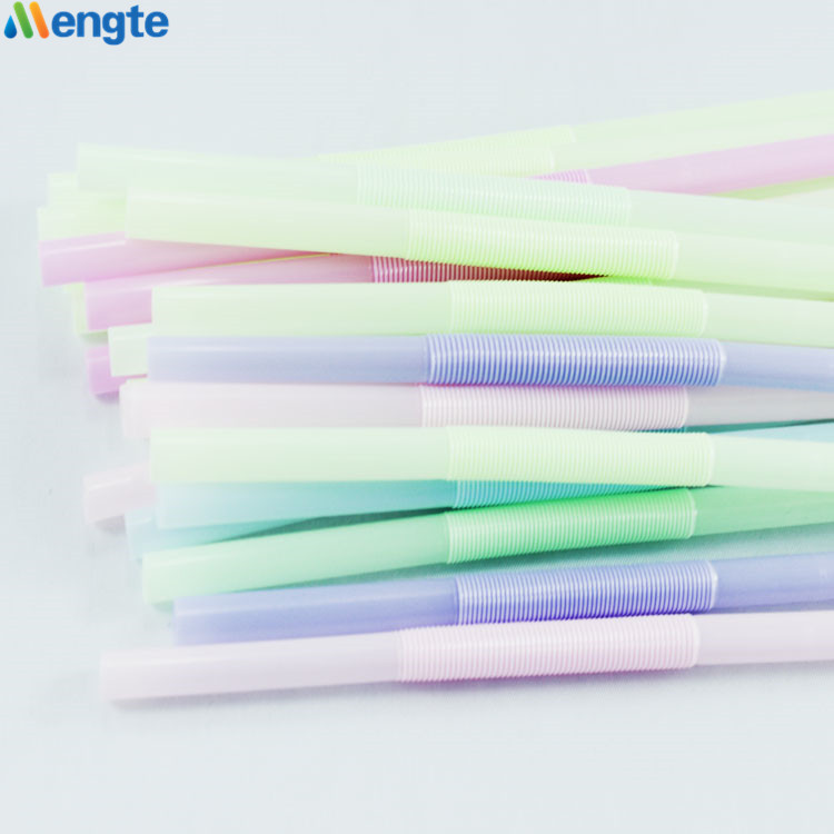 Flexible artistic plastic straw for drinking