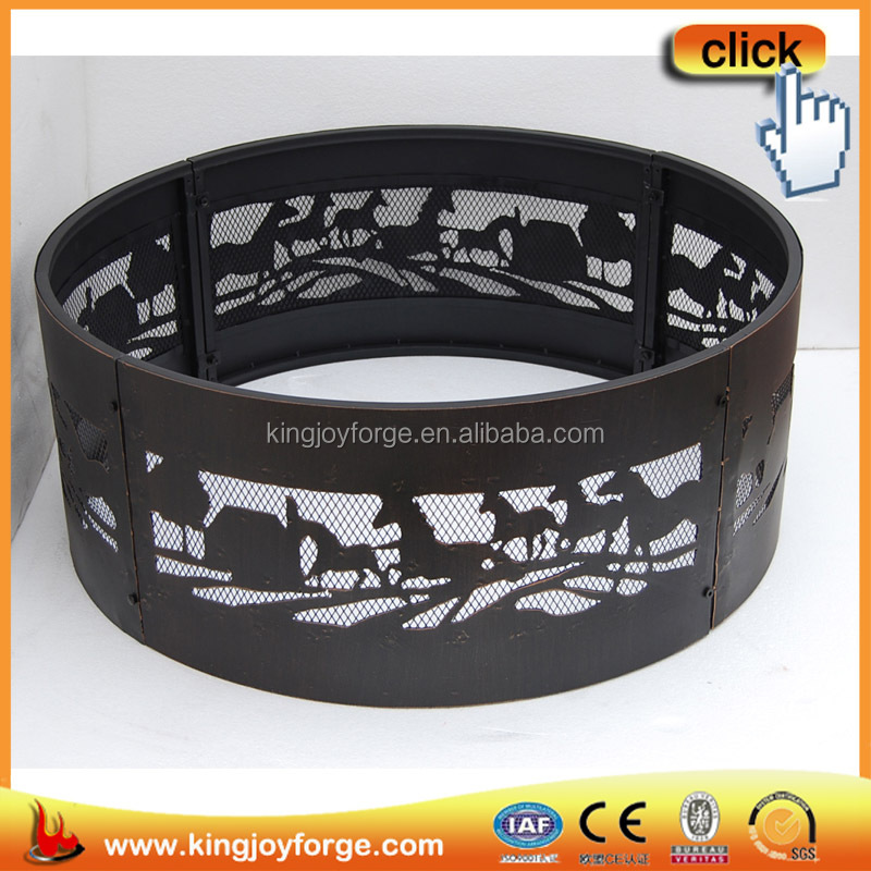 Outdoor round stainless steel fire ring