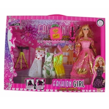 hot sale old fashion dress up games doll with many accessories