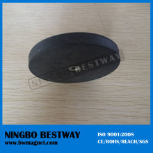 D22/ D43/ D66/ D88mm Rubber Coated Neodymium silicone Pot Magnets with M4/M6/M8 Hooks / holding