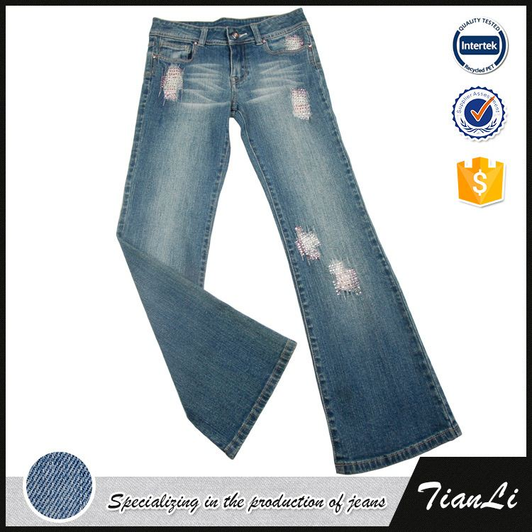 Women Fashion Wide Leg Jeans Pants Womens Bloomers Casual Denim Trousers Ladies pants